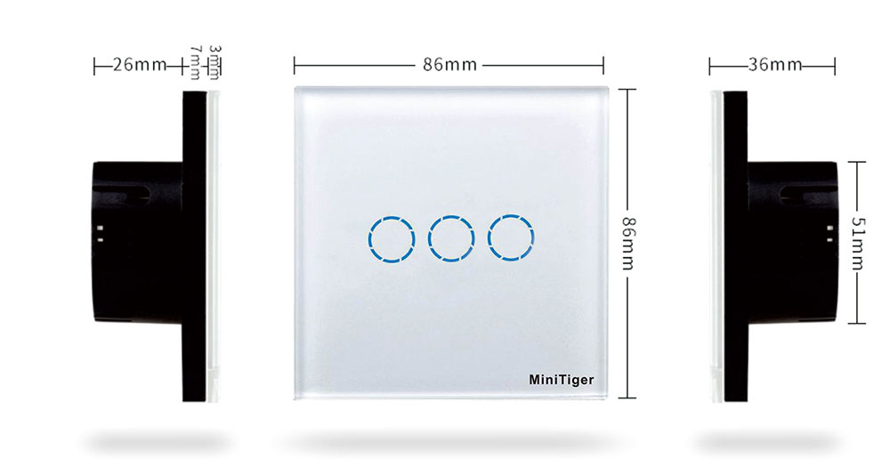 Interruptores e Relés tlink toque interruptor padrão da Interruptor : Interruptor Liga / Desliga
