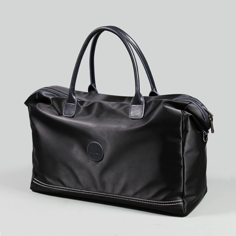 2018 Large Capacity Business Men Hand Luggage Ultralight Nylon Boarding Travel Bags Ture Cow Leather Men Travel Duffle (XW56002) цены