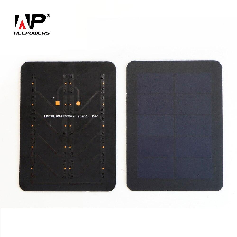 ALLPOWERS High Efficiency SunPower Solar Panel 5V 300mAh PET Solar Panel for DIY Solar Phone Charger.