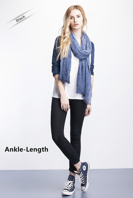 Women Plus Size Casual Slim Stretch Cotton Denim Jeans Blue black 24