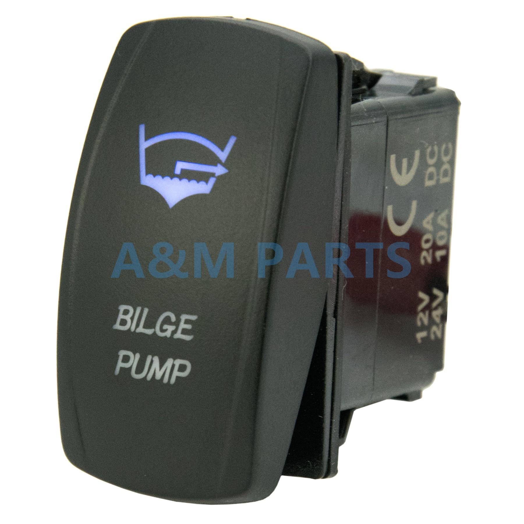 Laser Blue Rocker Switch Bilge Blower ON//OFF LED Light 12v Dash Accessories