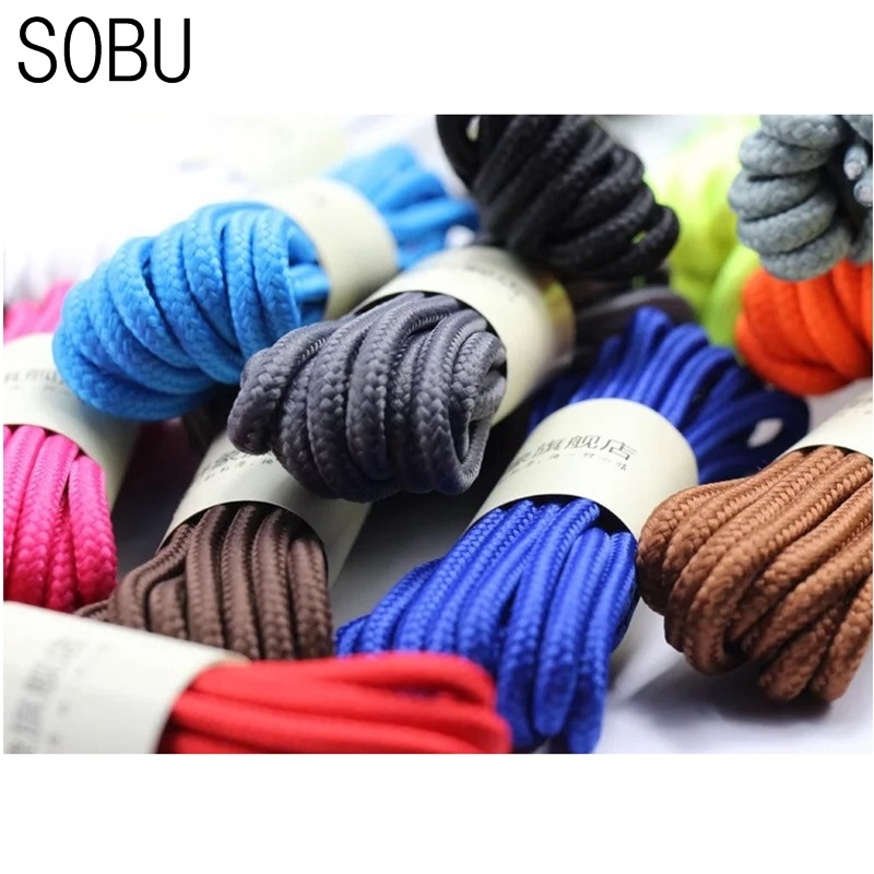1 Pair 90cm 120cm 150cm Of Classic Top Quality Polyester Solid Classic Round Shoelaces Martin Boot Shoelace Candy Colors Laces