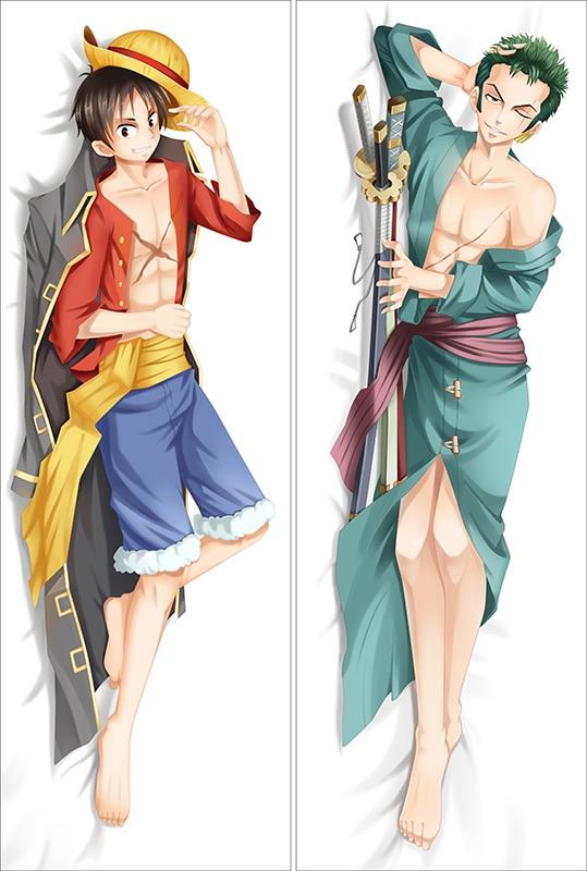Anime ONE PIECE Ace Luffy Dakimakura Pillow Case Cover Hugging Body 50*150cm