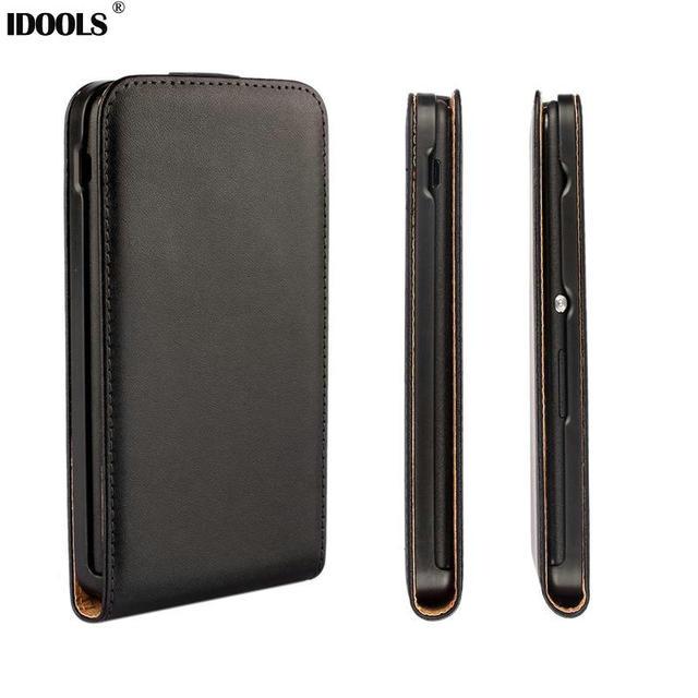Genuine Leather Case for Sony Xperia E4 E2104 E2105 E4 E2114 E2115 Flip Phone Bag Vintage Cover Durable Wallet Style IDOOLS