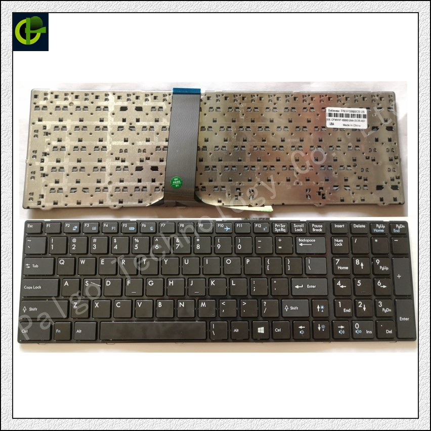 English Keyboard for MSI MS-1755 MS-1756 MS-175A MS-1758 MS-1759 MS-1762 MS-1763 MS-1764 MS-16F3 MS-16F4 MS-1761 US цена
