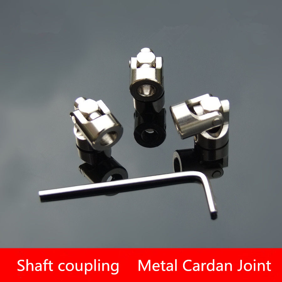 1PCS SC007 Inner diameter 3-10MM Shaft coupling Metal Cardan Joint Universal joint U-joint VL DIY Motor Fittings accessories steel drive shaft joint cvd 110 155mm