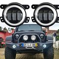 4 Inch 30W  LED Fog Lights Halo Ring Angel Eyes for Jeep Wrangler 97-16 JK TJ LJ