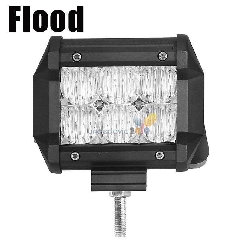 Auxmart 2pcs 5D 30w LED Work Light Bar 4 Spot Flood Beam Offroad 12V LED Fog Lamp ATV Trailer Camper 24V Motorcycle Truck