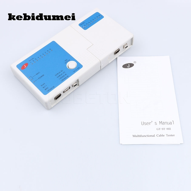 kebidumei 2017 Networking tools 4 in 1 RJ11 RJ45 USB BNC LAN Network Cable Tester for Cables Tracker Detector Hot Sell