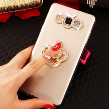 For LG V30 Q6 Q7 Q8 K11 V30S V40 G7 Case Luxury Glitter Diamond Stand Clear Soft Silicone Cover X Power 3 2 Stylus Plus