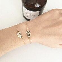 2Pcs/set Fashion Heart Stitching Partner in Crime Friendship Bracelet for Girls Couple Best Friend Charm Statement