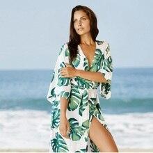 Summer Beach Dress Cotton Tunic Women Beachwear Swimsuit Cover Up Bikini Wrap Sarongs