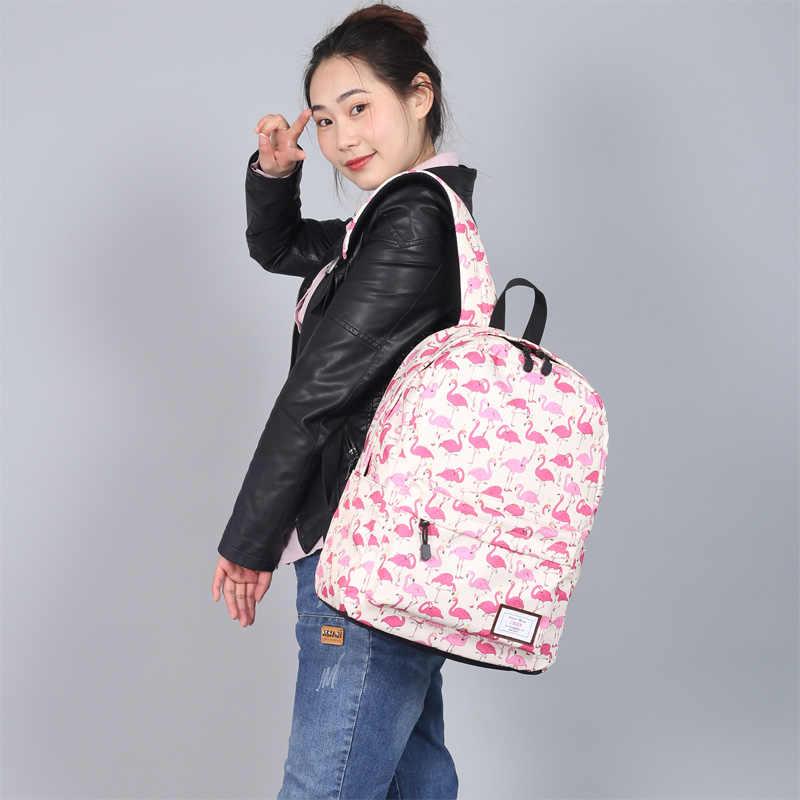 Mochila con estampado de flamencos para mujeres de CIKER para niñas adolescentes mochilas escolares grandes Mochila de viaje Mochila 2019