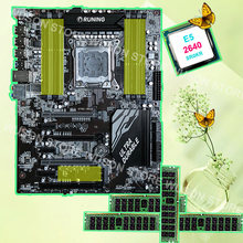 Runing X79 האם עם מעבד RAM 8 RAM חריצים 8 SATA יציאות 7 חריצי PCI-E Intel Xeon E5 2640 2.5 ghz RAM 4*16 גרם 1600 mhz DDR3 RECC(China)