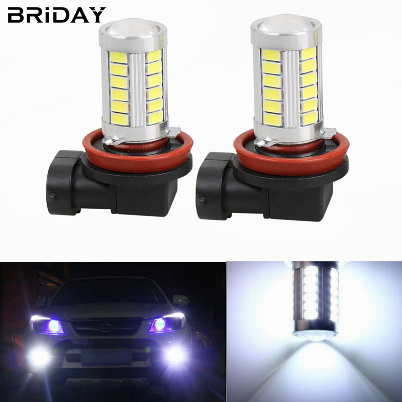 New 2pcs H11 h8 5630 33SMD front Fog Lights Car LED Lights Daytime Running Light fog Lamp Bulbs for cars car-styling Auto 12v new car styling auto h4 led bulb h7 lighting car led 12v lights h4 h7 led lamps light bulbs headlights for cars led headlights