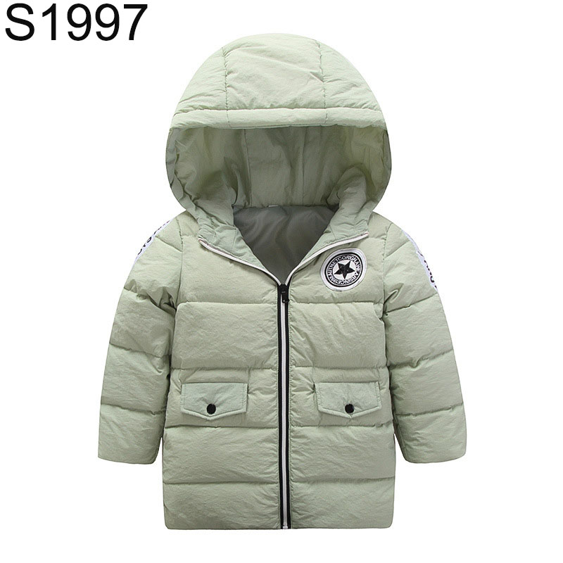 New Winter Children Warm Down Coat Zipper Hooded Thick Outerwear Boys Girls Fashion Patchwork Jacket Kids Duck Down Top Clothes 2016 new winter boys girls clothes coat children down