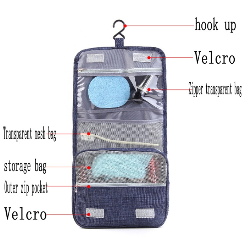 a34c658fe414 US $6.87 42% OFF|JXSLTC Portable Beautician Cosmetic Bag Waterproof Hanging  Toilet Bags Folding Travel Accessories Suitcase Makeup Organizer Bag-in ...