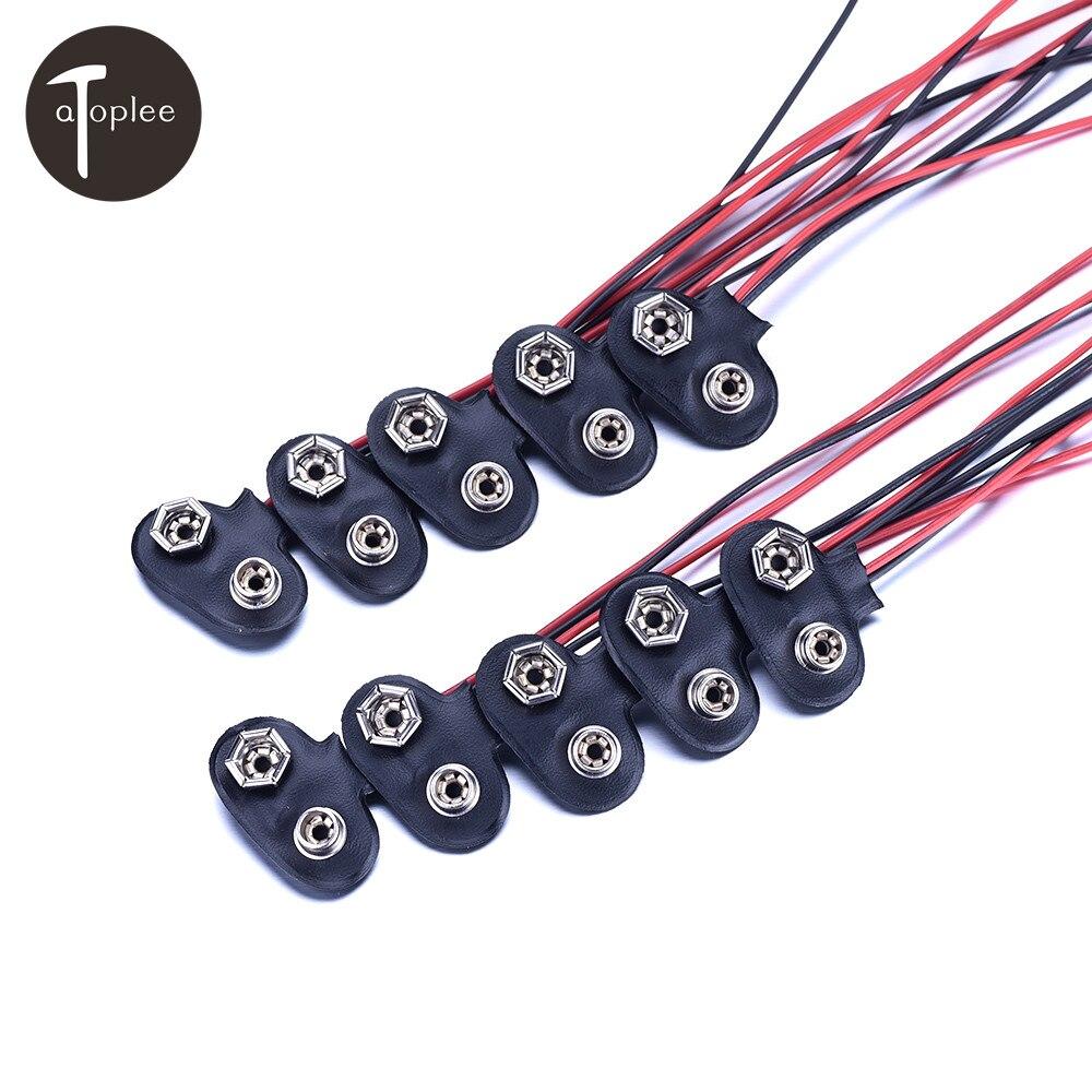 10 шт. 9 В Батарея кнопки Мощность кабель к DC 9 В клип мужской линии Батарея адаптер JACK Разъем жесткий Основа пряжка