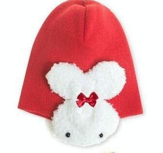 c15c36f2b2b3 Fahion Kids Winter Cap Toddler Girls And Boys Hats With Cute Rabbit ...
