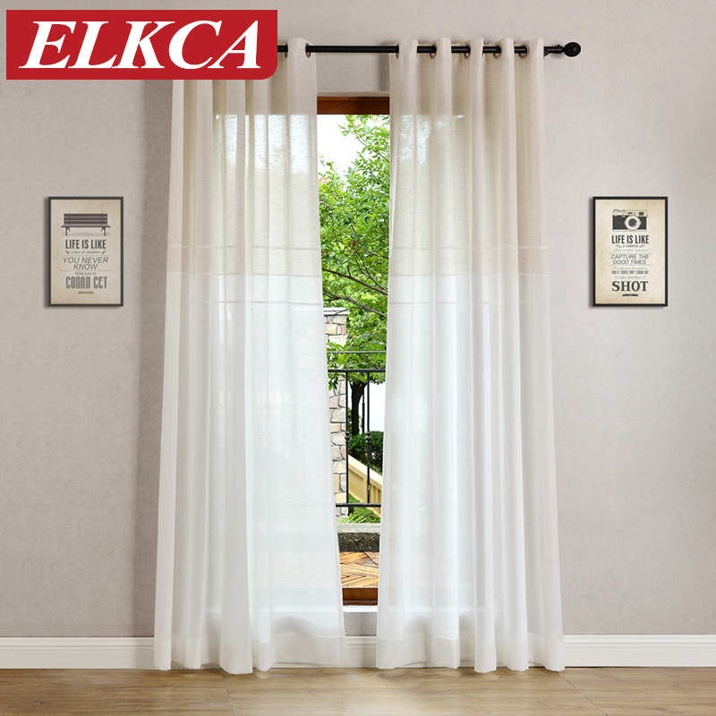 Bedroom Curtains Solid Color Japan Window Shades Imitation: Japan Jacquard Soft Sheer Curtains For Living Room Solid