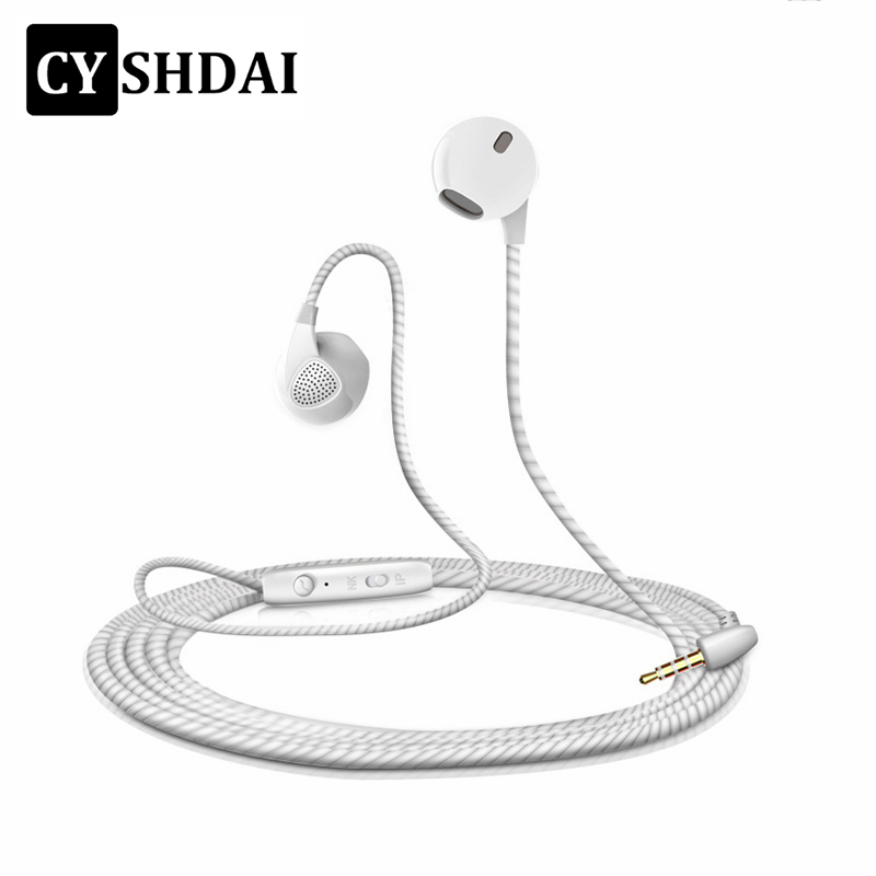 CYSHDAI Stereo Sport Running Earphone Bass Music Handfree Earphones With Microphone for iPhone 5 5S 6 6S Samsung Drop Shipping qkz c6 sport earphone running earphones waterproof mobile headset with microphone stereo mp3 earhook w1 for mp3 smart phones