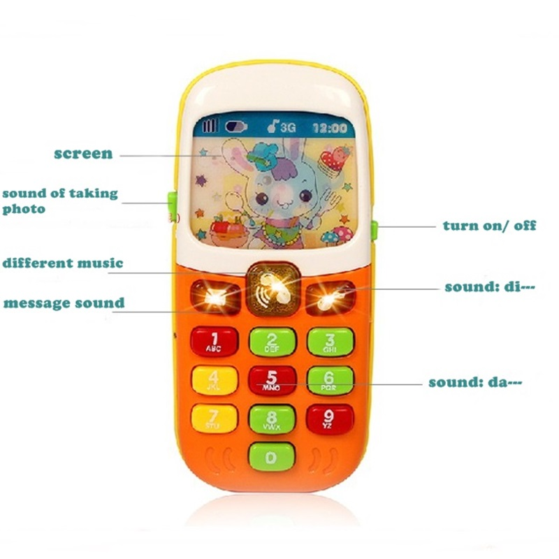 Baby Early Educational Toys Electric Phone Mobile Phone Toys Music Learning Machine Best Birthday Christmas Gift for Kids