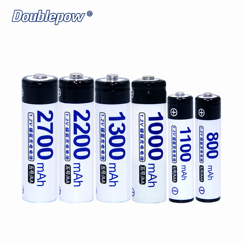 4 pçs/lote DP-AA/Doublepow AAA 1.2 V bateria recarregável de 800 mAh-2700 mAh em Real de Alta Capacidade Da Bateria celular FRETE GRÁTIS
