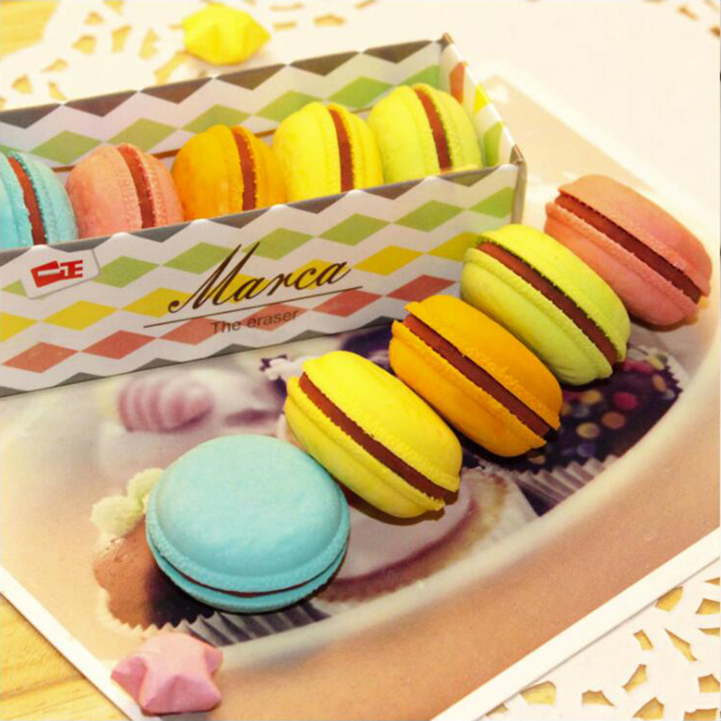 Round Macaron Pencil Rubber Eraser Different Colored Mixed Soft Office Stationery And School Supplies Eraser 1PCS