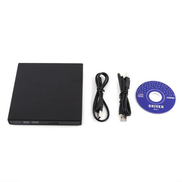 Portable USB 2.0 External DVD/CD-RW Drive Burner Slim Driver For Netbook MacBook Laptop Desktop