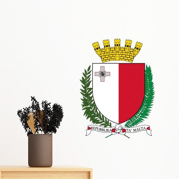 Malta Europe National Emblem Removable Wall Sticker Art Decals Mural DIY Wallpaper for Room Decal