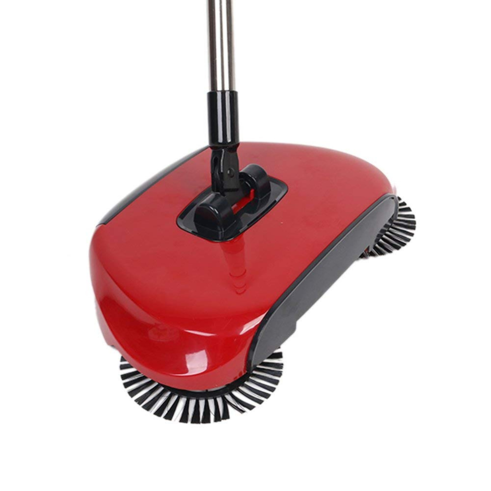 Household Hand Sweeping Machine Without Electricity 360 Degree Rotating,Automatic Cleaning Push Sweeper Broom  Dustpan Trash Bin(China)