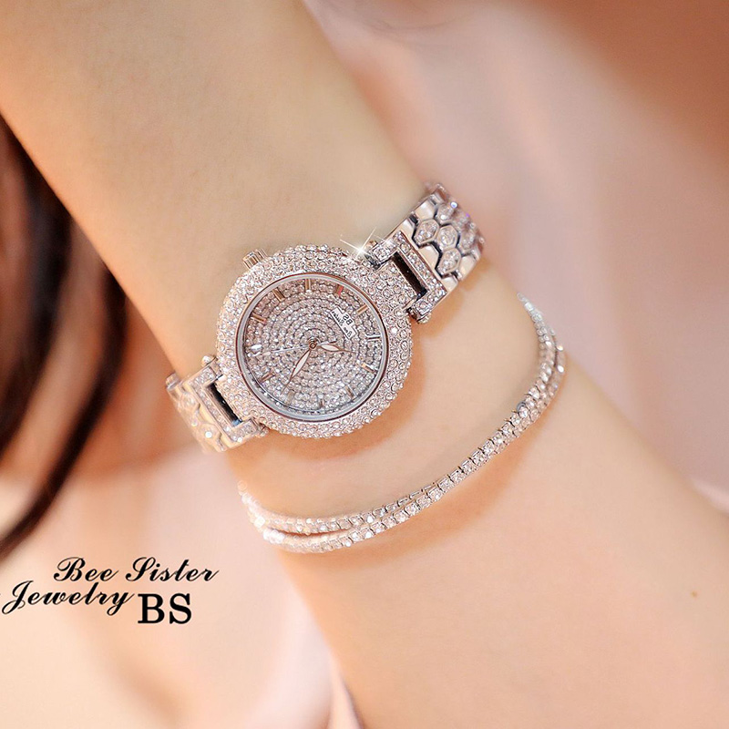 2017Women Watches Luxury Diamond Elegant Dress Watches Top Brand Ladies Wristwatch montre femme Relogios Femininos saat