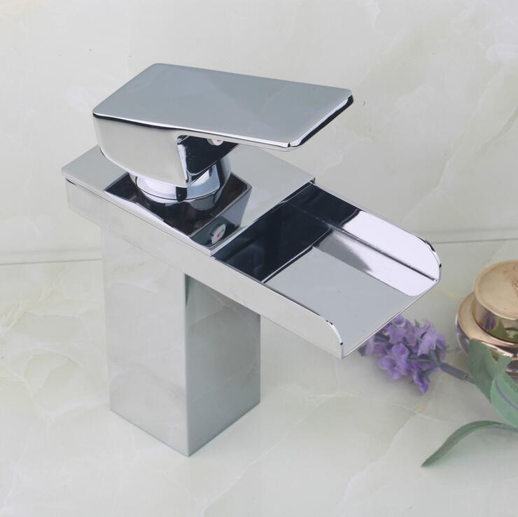 Brass sink basin faucet water tap, Bathroom chrome wash basin faucet waterfall, Copper single hole basin faucet hot and cold xogolo fashion waterfall faucet for bathroom chrome single hole basin faucet mixer new arrival cold and hot sink tap