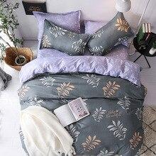 Europe, America,Japan Leaf Language Sheet Full Size Pillowcase&Duvet Cover Sets 3&4 pcs bedding set luxury