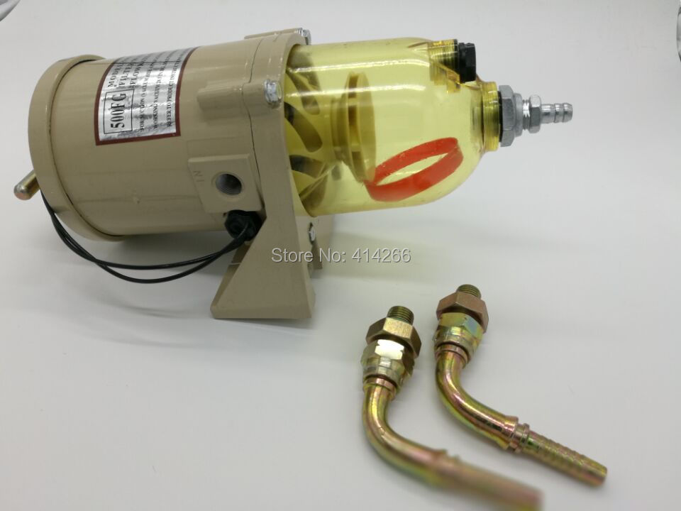 ФОТО 500FG Fuel water separator filter with heater diesel engine truck 2010PM,FREE SHIPPING