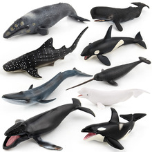 Sea Life Animal Shark Whale model figures figurines Simulation Humpback Beluga Blue whale t