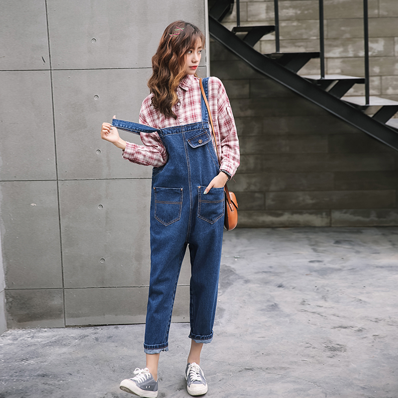 Nice Vetevidi Spring Denim Jumpsuits Women Harem Pants Ladies Loose Jeans Gallus Rompers Female Suspender 3202# Latest Technology Women's Clothing