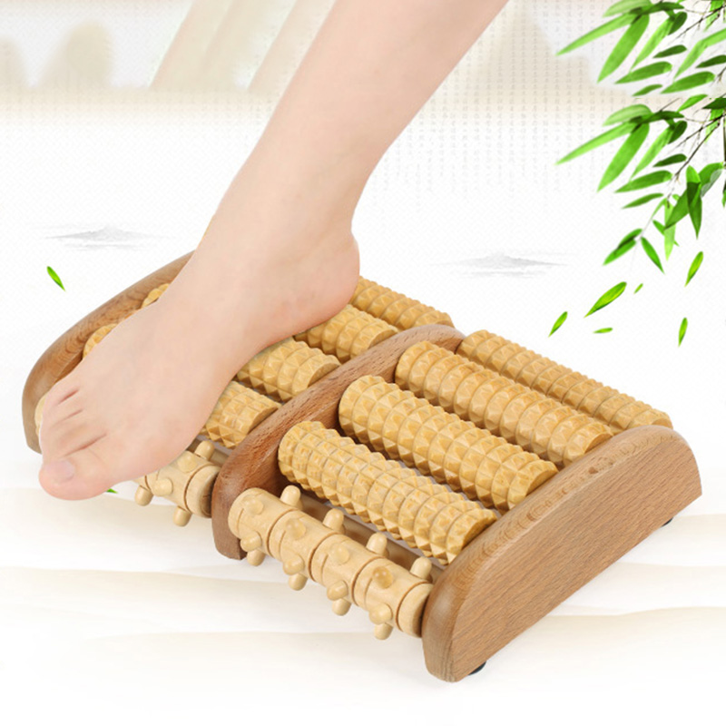 FREE SHIPPING Dual Foot Massager Roller (Large). Relieve Plantar Fasciitis, Stress, Heel, Arch Pain – Shiatsu Acupressure Relaxation. acupressure