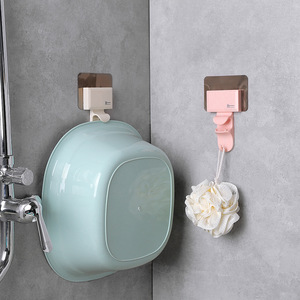 Image 1 - 1 P Creative Shape Strong Washbasin Rack Towel Hook Adhesive Multi Purpose Hooks Organizer Holder Plug Kitchen Bathroom Hooks