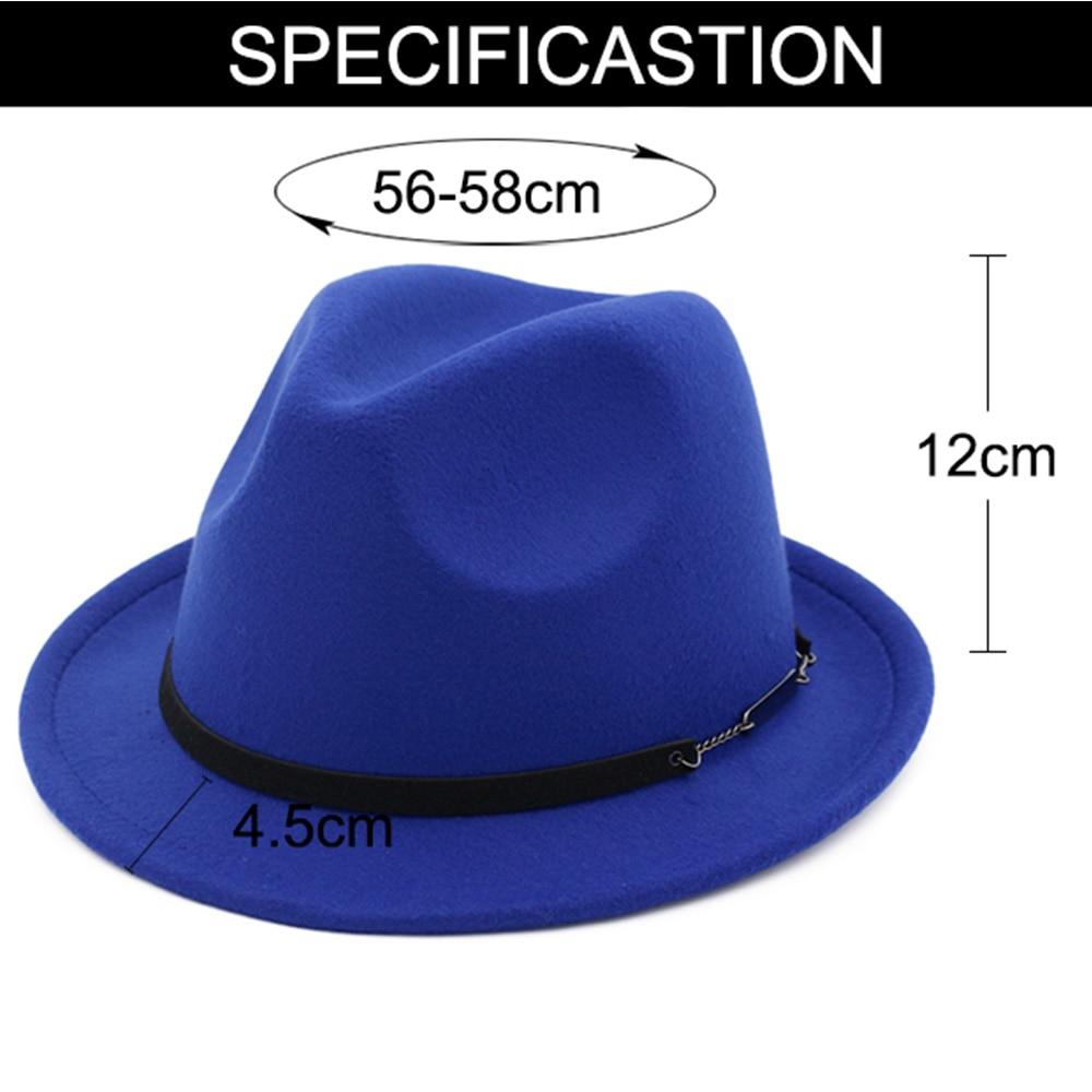 ... FS Autumn Black Red Cotton Trilby Felt Fedora Hat Men Vintage Wide Brim Winter  Hats For ... 40b04e6b6403