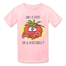 """Am I a fruit or a vegetable?"" kids shirt"