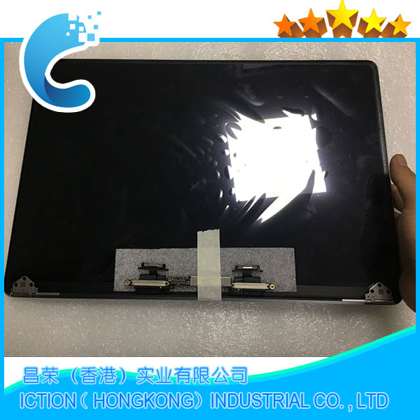 Genuine New Grey Silver Color A1707 LCD Display Assembly 2016 2017 for Macbook Pro Retina 15 A1707 LCD Screen Complete Assembly new silver for macbook pro retina 15 4 a1707 force touch pad touchpad trackpad