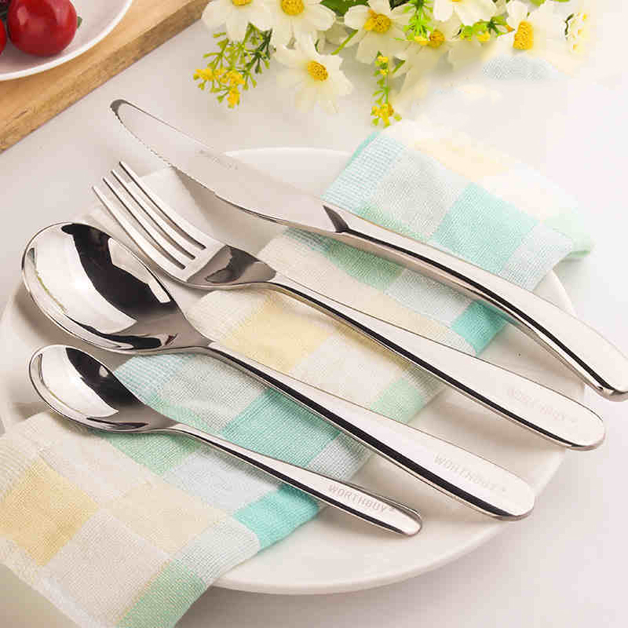 tableware knife fork and set steak stainless steel cuilleres a cafe coffee dinner with a long. Black Bedroom Furniture Sets. Home Design Ideas
