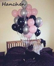 30pcs / παρτίδα 2.2g μαύρο ροζ μπαλόνια λατέξ λωρίδα αέρα μπάλα μπαλόνι Helium ballon μωρό ντους παιδιά ευτυχισμένος γενέθλια γάμο κόμμα διακόσμηση balloon