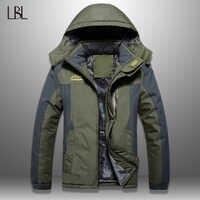 LBL hiver hommes vestes épais hommes randonnée veste veste décontractée chaud à capuche manteau Homme coupe-vent pardessus Homme extérieur haut tendance