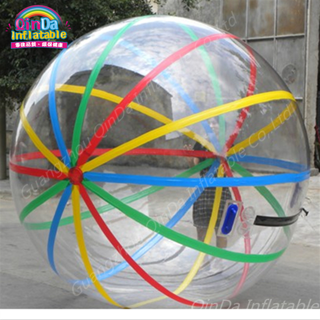 Bubble Stripe Pool float Water Balloon Zorb Ball,spinner Inflatable Human Hamster Plastic Ball Walk on water ball