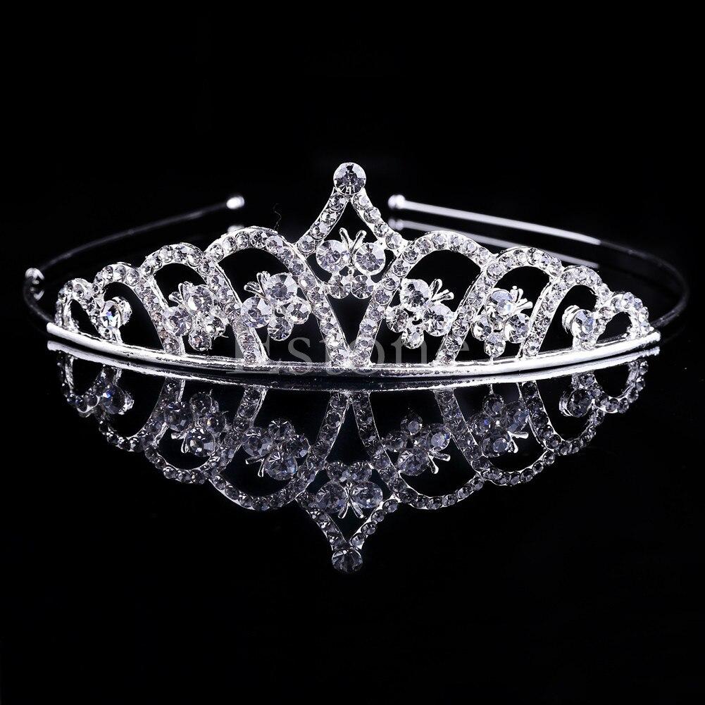 Wedding Bridal Tiara Crown Crystal Rhinestone Pageant Prom Hair Comb Headband