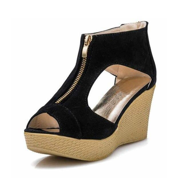 994b96e2eaf placeholder VTOTA Summer Shoes Woman Platform Sandals Women Soft Leather  Casual Peep Toe Gladiator Wedges Women Shoes