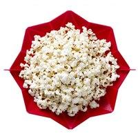 Kẹo Màu Silicone Lò Vi Sóng Sản Xuất Bỏng Ngô Bát Ăn Lưu Trữ Box Container Popcorn Xô Nhà Bếp DIY Baking Wares