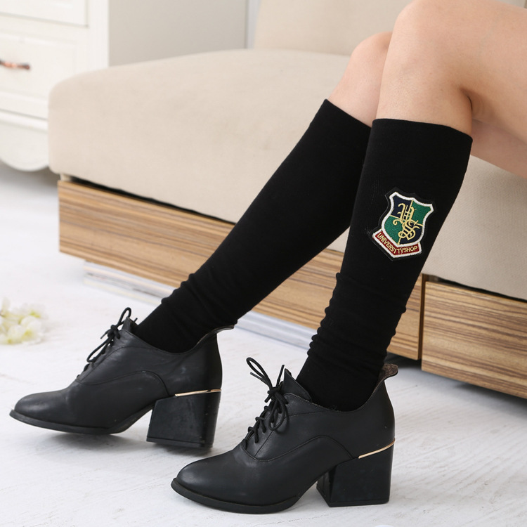 2017 Rushed Solid Cotton Sexy Fashionable Korean Edition Of The New Style Womens Foot Warm Cloth Standard Medias Long Socks